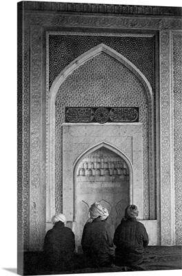 Men Praying At Qibla Niche