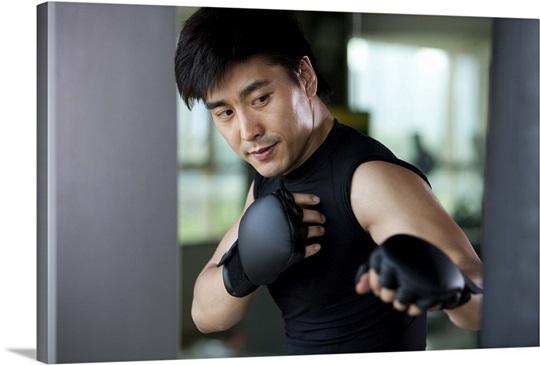 Mid-Adult Man Boxing