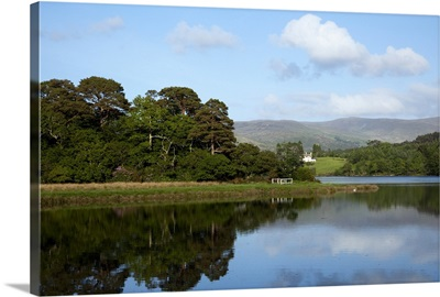 Midday sky reflected in a lake, Kenmare, County Kerry, Ireland