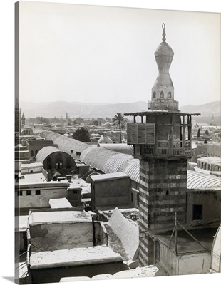 Minaret And Rooftops In Syrian Town