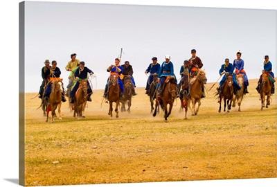 Mongolian horsemen.