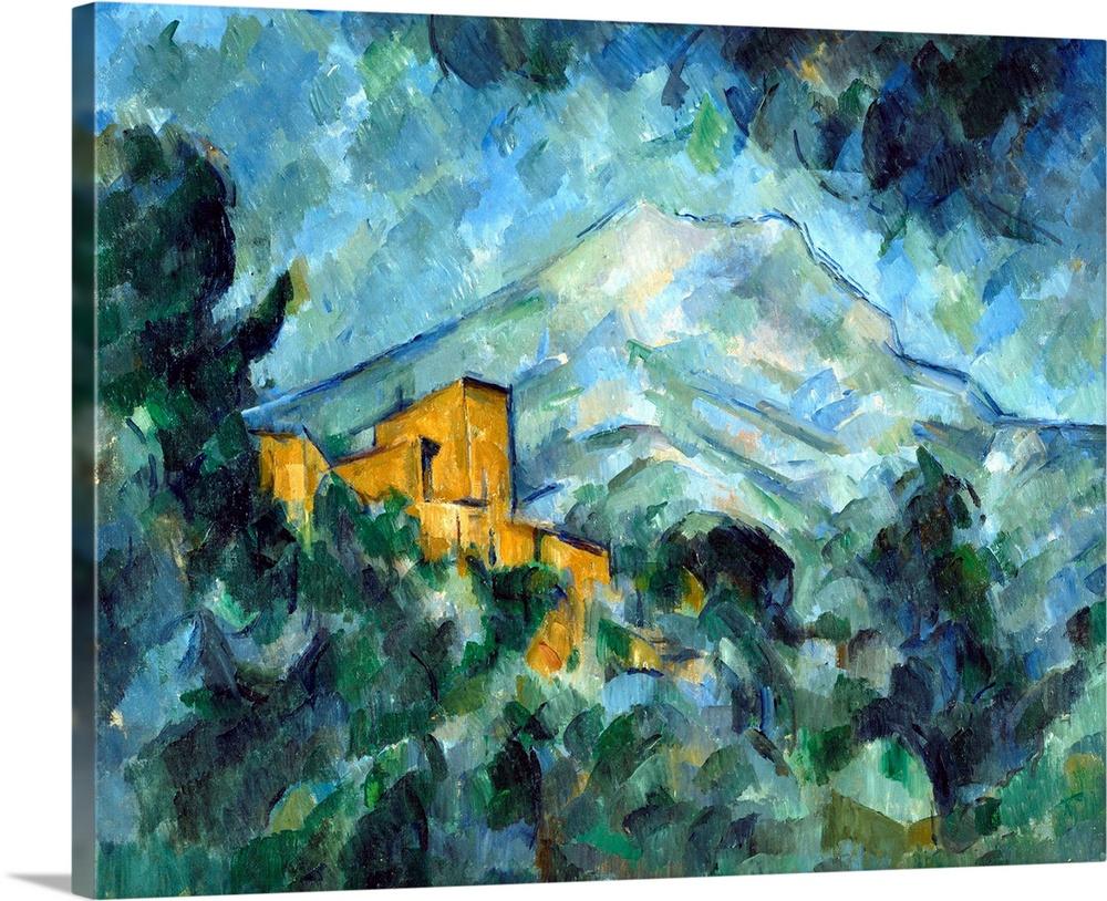 Paul Cezanne Mont Sainte Victoire And Chateau Noir Large Wall Art Print 24X24 In