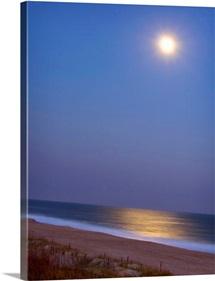 Moonlight on ocean.