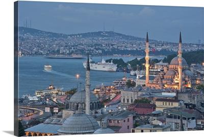 Mosque of Valide Sultan in Eminonu, Istanbul, Turkey.