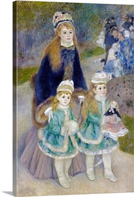 Mother And Children (La Promenade) By Pierre-Auguste Renoir