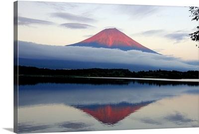 Mount Fuji at sunset, Japan.
