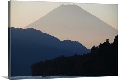 Mt Fuji at dusk, Hakone, Japan.