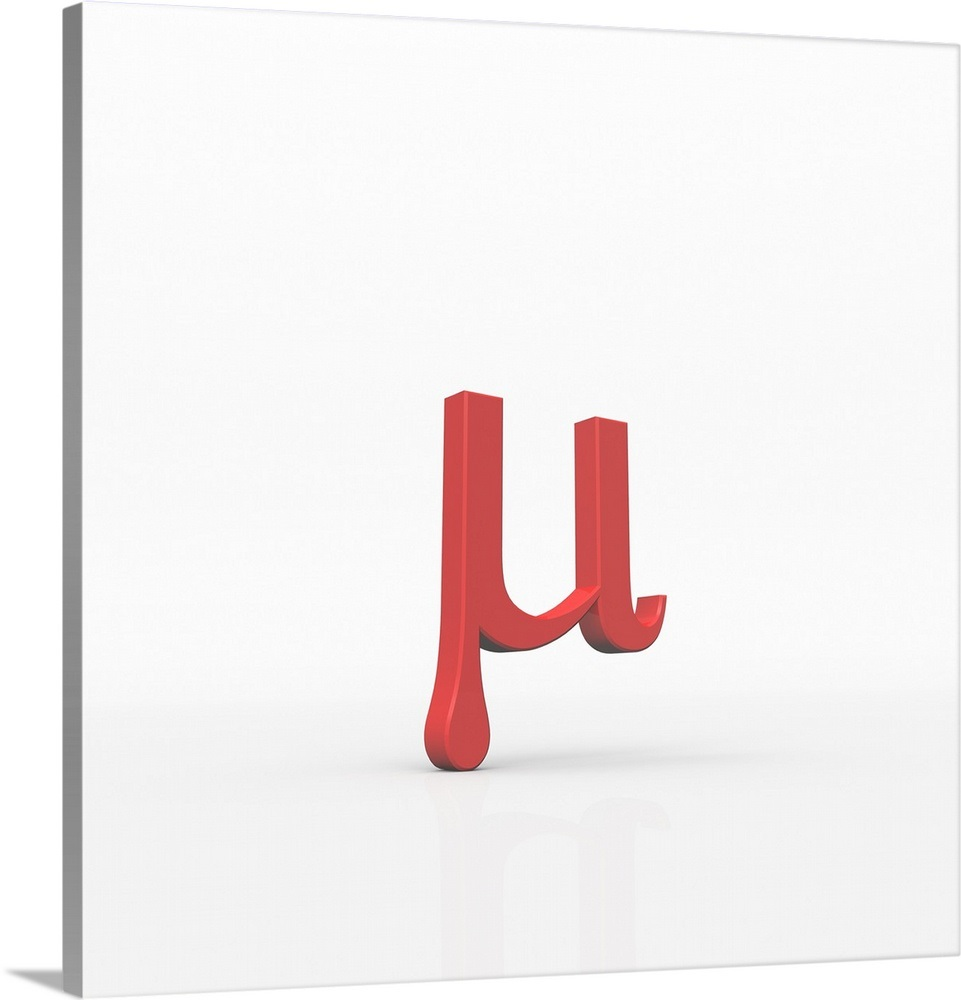 Mu is the 12th letter of the Greek alphabet. Wall Art
