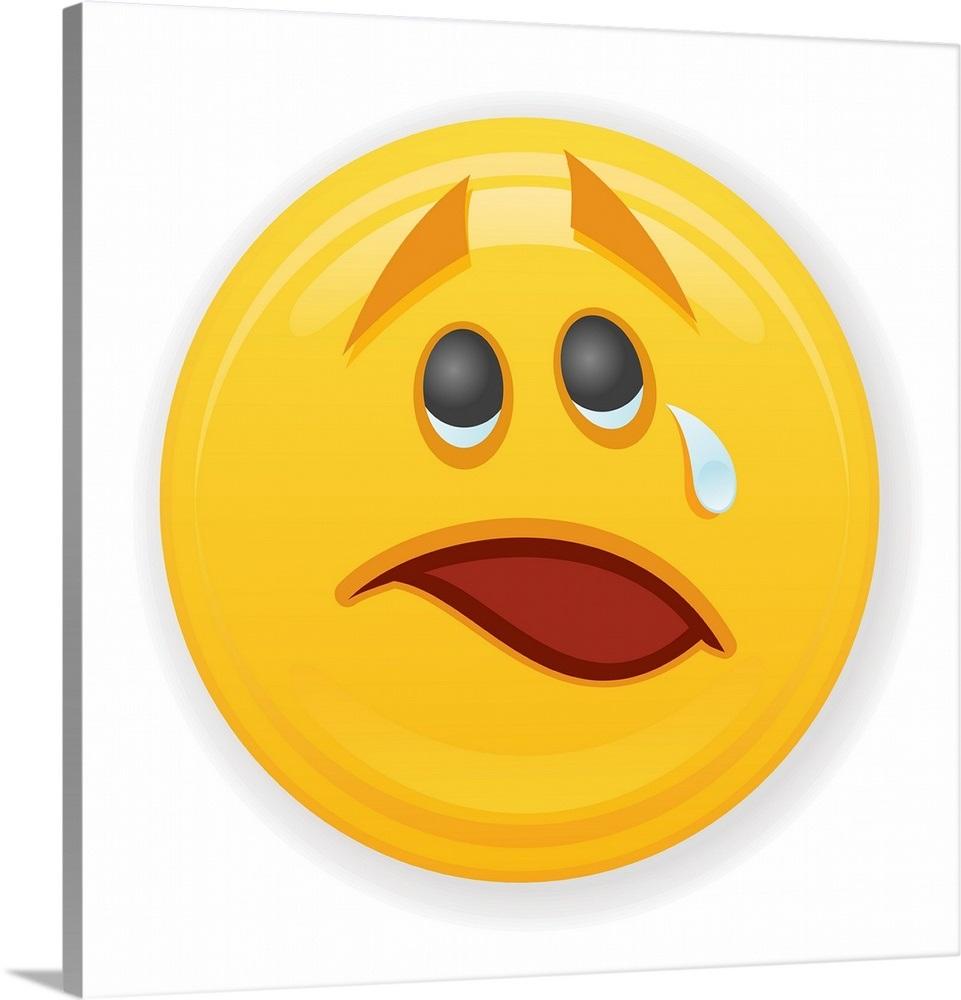 Nervous Crying Emoji