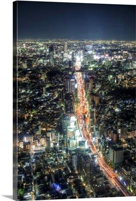 Nightscape in Tokyo.