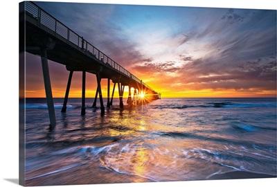 Ocean sunset, Hermosa Beach, California