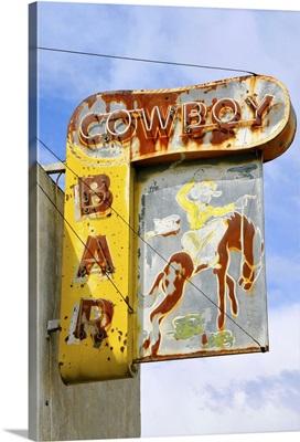 Old bar sign, Montana