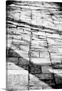 Old brick pathway