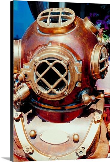 old-fashioned scuba diver mask