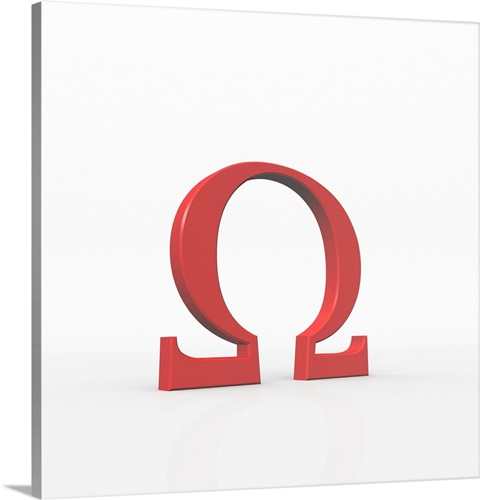 omega is the 24th and last letter of the greek alphabet. wall art