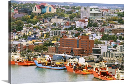 Overview of Historic Saint John's, Newfoundland, Canada