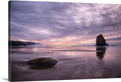 Pacific ocean sunset, Cannon Beach, Oregon