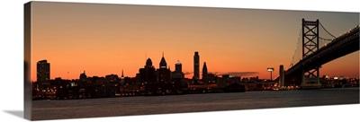 Panorama of Philadelphia, Pennsylvania along the Delaware River