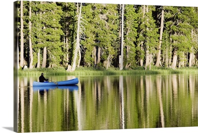 Person in a boat on a lake