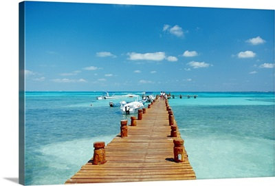 Pier in Cancun, Mexico