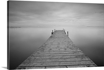 Pier on a calm lake