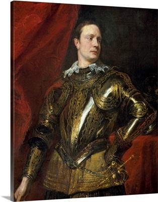 Portrait of a Condottiere with Golden Armor
