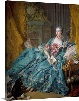 Portrait of Madame de Pompadour by Francois Boucher