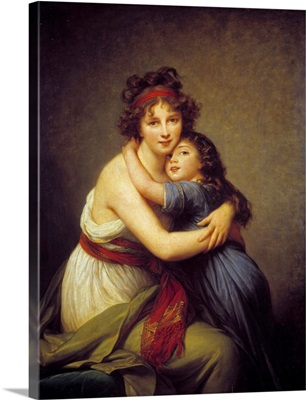 Portrait of Madame Vigee Lebrun and her daughter by by Elisabeth Vigee-Lebrun