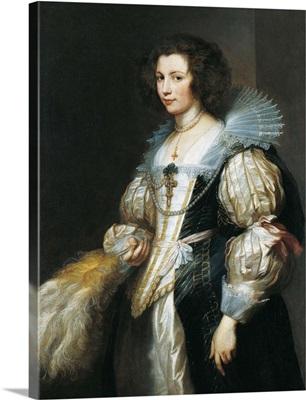 Portrait Of Maria Louisa De Tassis By Anthony Van Dyck