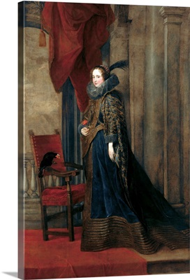 Portrait Of Paolina Adorno-Brignole-Sale By Anthony Van Dyck