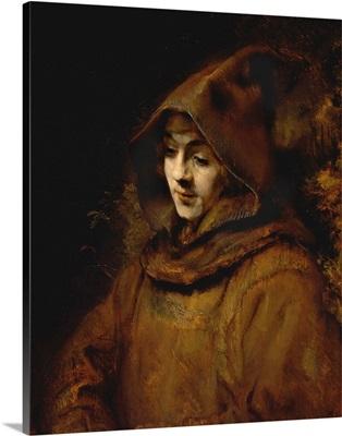 Portrait Of Rembrandt's Son Titus, Dressed As A Monk By Rembrandt Harmensz Van Rijn