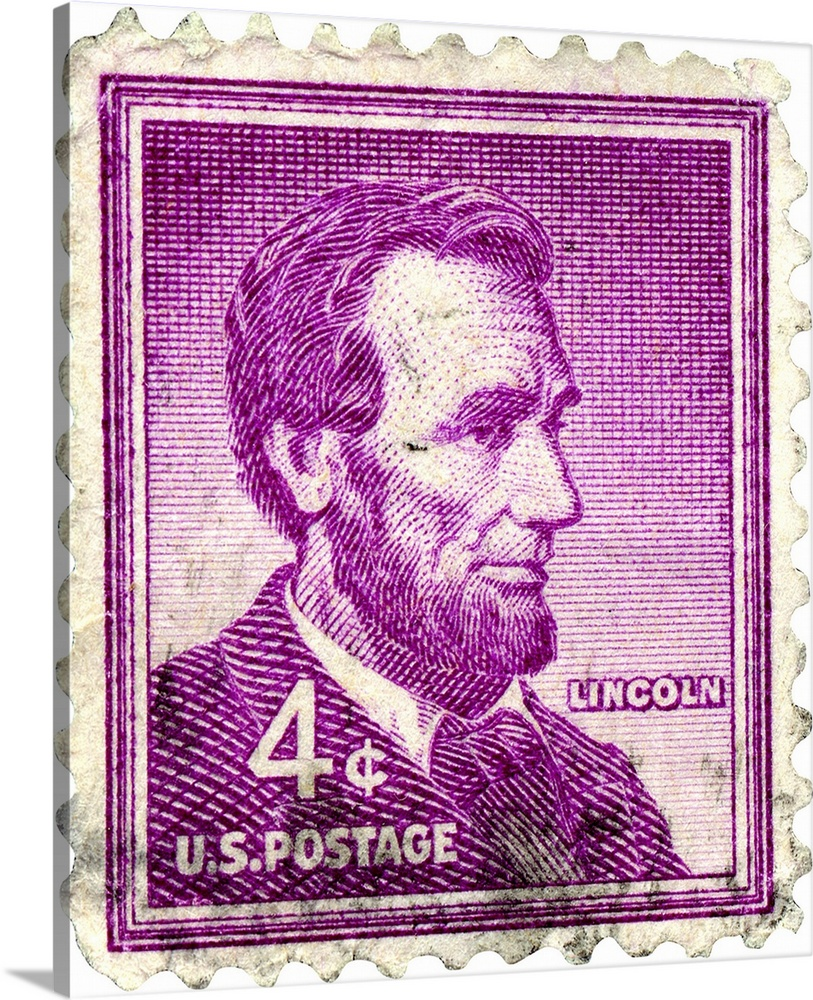 Postage Stamp Featuring Abraham Lincoln Great Big Canvas