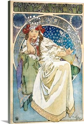 Poster for La princesse Hyacinthe of Oskar Nedbal by Alphonse Mucha