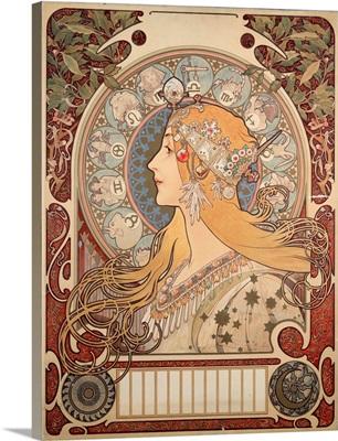 Poster illustration by Alphonse Mucha for La Plume