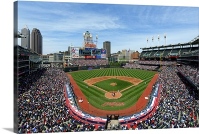 Progressive Field in Cleveland, Ohio, home of the Cleveland Indians