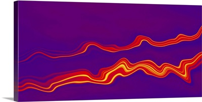 Purple and red abstract waves