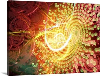 Quantum mechanics, conceptual artwork
