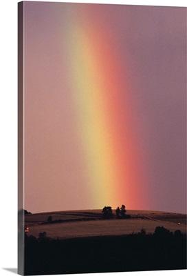 Rainbow in a sunset sky