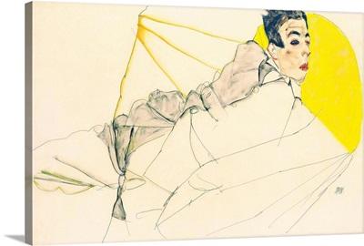 Reclining Boy (Erich Lederer) By Egon Schiele