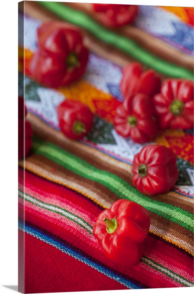 Red Hot Chili Peppers On Mexican Tablecloth