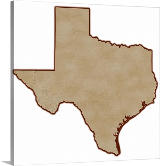 Relief Map Of Texas.Relief Map Of Texas Wall Art Canvas Prints Framed Prints Wall