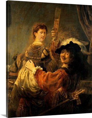 Rembrandt And Saskia In The Parable Of The Prodigal Son By Rembrandt Van Rijn