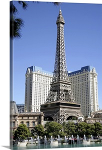 Replica Eiffel Tower On The Las Vegas Strip Wall Art