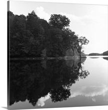 Reservoir reflection, Connecticut.