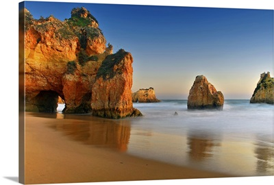 Rocks in sea, Portugal.
