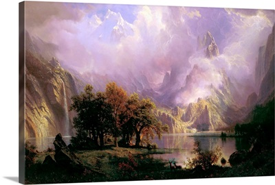 Rocky Mountain Landscape By Albert Bierstadt