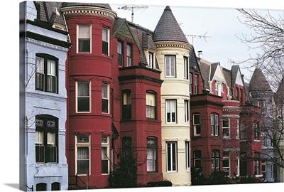 Row houses, Georgetown, Virginia,  Washington DC