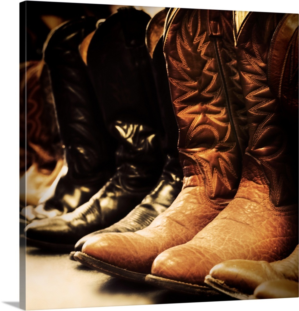 cd4e58a3956 Row of cowboy boots, Las Vegas, Nevada Wall Art, Canvas Prints ...