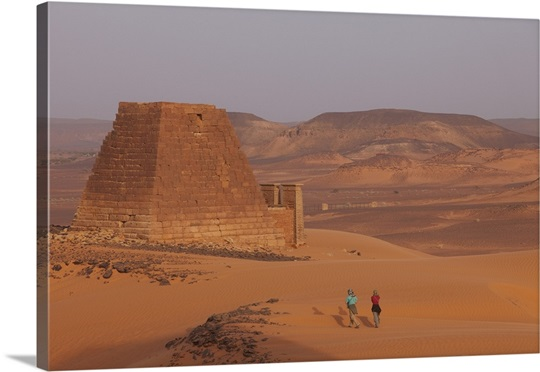 Royal city of Meroe, ancient capitol of Kushite Kingdom and Royal Cemetery