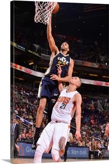Rudy Gobert of the Utah Jazz shoots the ball against the Phoenix Suns